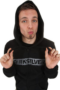 Quiksilver Corporate Lettring Zip-Hoodie (black)