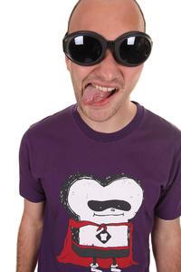 Cleptomanicx Super Toast T-Shirt (purple)
