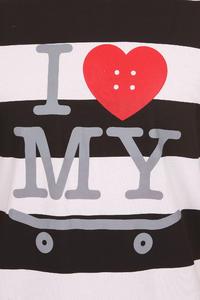 Trap Skateboards I Love My Skateboard T-Shirt (White Black)