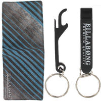 Billabong Deluxe Geschenkbox Gürtel + Geldbeutel + Schlüsselanhänger  (blue)
