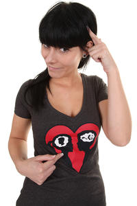 Enjoi True Love T-Shirt women (charcoal heather)