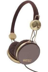 WeSC Banjo Golden Headphones (dark chocolate)