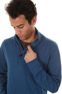 Iriedaily Gritty Shawl Sweatshirt (blue melange)