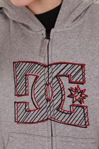DC Modpod Zip-Hoodie kids (heather grey)