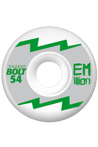 EMillion Thunderbolt Series 54mm Wheel 4er Pack  (silver metallic)