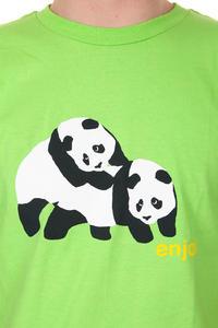 Enjoi Piggyback Pandas T-Shirt (lime)