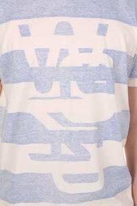 WeSC Jailhouse Overlay T-Shirt (blue light)