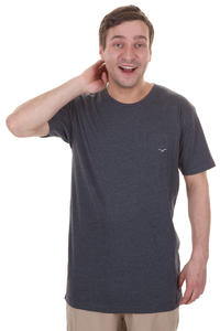Cleptomanicx Ligull Long T-Shirt (heather dark navy)