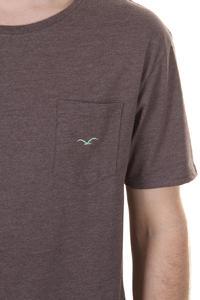 Cleptomanicx Ligull Long T-Shirt (heather dark brown)