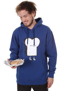 Cleptomanicx Toast Hoodie (soda blue)