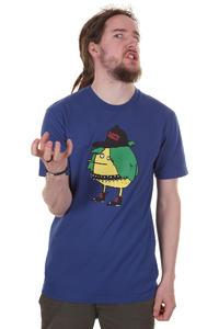 Cleptomanicx Punker Zitrone T-Shirt (soda blue)