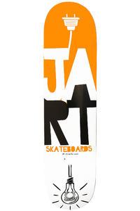 """Jart Skateboards Light Logo 8"""" Deck (orange white)"""