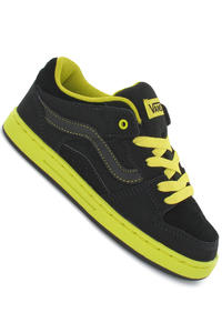 Vans Baxter Suede Canvas Shoe kids (friction black neon green)