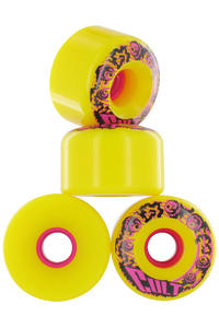 Cult Classic 70mm 80A Rollen 4er Pack  (yellow)
