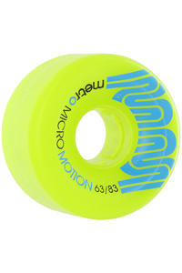 Metro Wheels Micro Motion 63mm 83a Rollen (green) 4er Pack