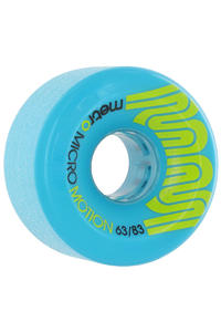 Metro Wheels Micro Motion 63mm 83A Rollen (blue) 4er Pack