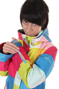 Roxy Jetty Snowboard Jacke women (colorsquare plaid)