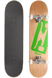 "Trap Skateboards Truck Logo A SP12 7.5"" Komplettboard (natural green)"