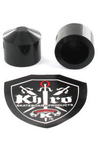 Khiro Large Hard Pivot Cup Gummi (black) 2er Pack