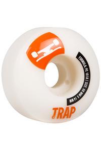 Trap Skateboards Crossbreed 50mm Rollen (white orange) 4er Pack