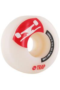 Trap Skateboards Crossbreed 51mm Rollen (white red) 4er Pack