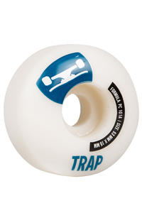 Trap Skateboards Crossbreed 53mm Wheel 4er Pack  (white dark blue)