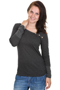 Iriedaily Asym Stripe Button Longsleeve women (anthracite melange)