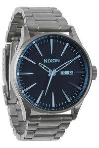 Nixon The Sentry SS Uhr (gunmetal blue crystal)