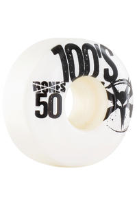Bones 100's-OG #13 Slim 50mm Rollen (white) 4er Pack