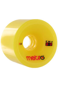 Metro Wheels DH-R 70mm 80A Rollen (yellow) 4er Pack
