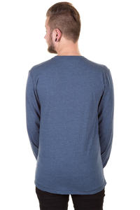 Cleptomanicx Patch Henley Longsleeve (heather blue)