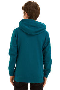 Burton Logo Vertical Zip-Hoodie kids (cerulan)