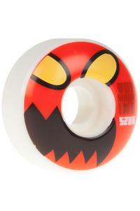 Toy Machine Monster Face 52mm Wheel 4er Pack  (white red)
