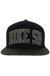 Nike SB Icon Leopard Snapback Cap (black)