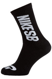Nike SB Crew Socken US 2-14,5 (black white) 3er Pack