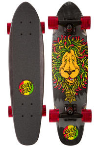 "Santa Cruz Sidewalk Screamer Rasta Lion 6.4"" x 25.3"" Cruiser"