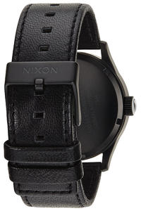 Nixon The Sentry Leather Uhr (black white)