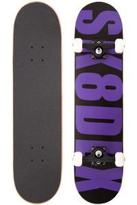 """SK8DLX Letter 7.5"""" Complete-Board (black purple)"""
