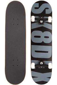"""SK8DLX Letter 8"""" Komplettboard (black grey)"""