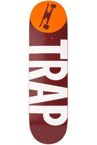 "Trap Skateboards Classic Big Logo Wine 8.375"" Deck (red white)"