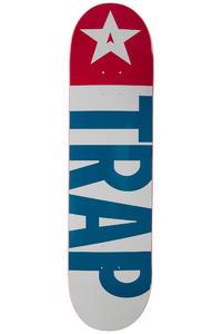 """Trap Skateboards Big Flag 8.125"""" Deck (red blue)"""