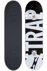 "Trap Skateboards Classic Big Logo 8"" Complete-Board (black)"