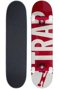 "Trap Skateboards Classic Big Logo 7.75"" Complete-Board (red)"