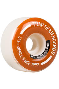 Trap Skateboards Pooldogs 57mm Rollen (white brown) 4er Pack
