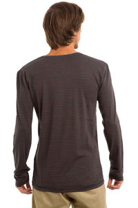 Cleptomanicx Stripe Longsleeve (pirate black)