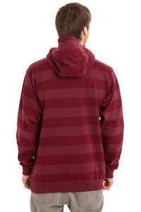 Cleptomanicx Stripe 2.0 Hoodie (burgundy)