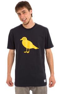 Cleptomanicx Smile Gull T-Shirt (dark navy)