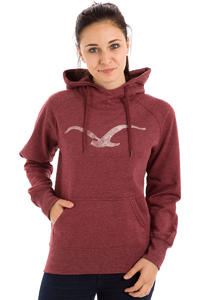 Cleptomanicx Möwe Scribble Hoodie women (heather dried tomato)