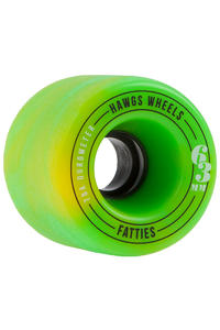 Hawgs Fatty 63mm 78A Wheel (yellow green swirl) 4 Pack