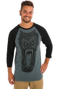 Deathwish Wolf 3/4 Longsleeve (grey black)